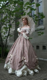 historical prairie wedding dress