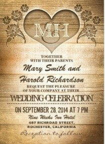 Find Many Customizable Country Themed Wedding Invitations Here