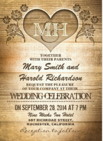 country wedding invitations: sources for ready-to-order or diy, Wedding invitations